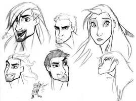 WIP Sketch of Humanized!Spirit