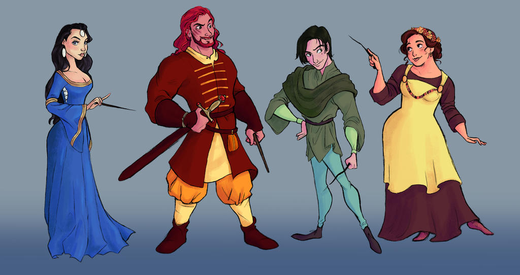 The Hogwarts Founders by s0alaina