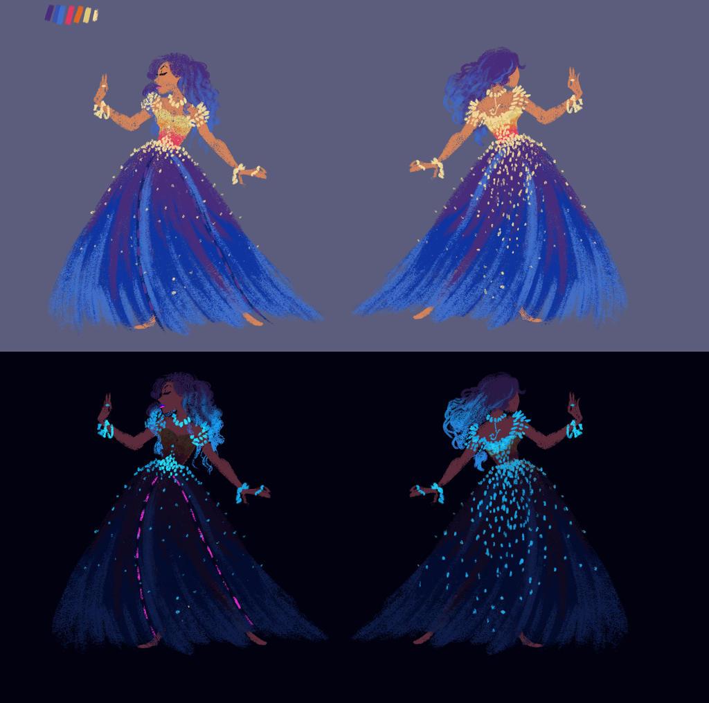 Tamatoa Dress Design by s0alaina
