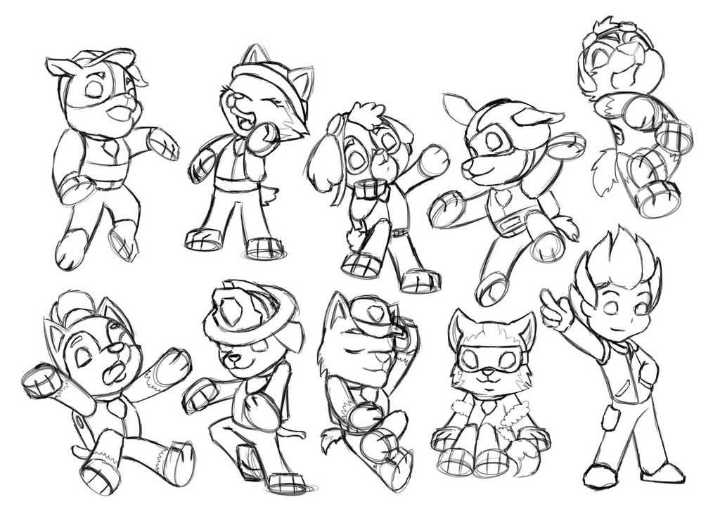 Dibujos Para Colorear E Imprimir De Paw Patrol: Paw Patrol Pile By AFK-eating On DeviantArt