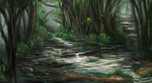 A Small Stream by JonnyCupCake