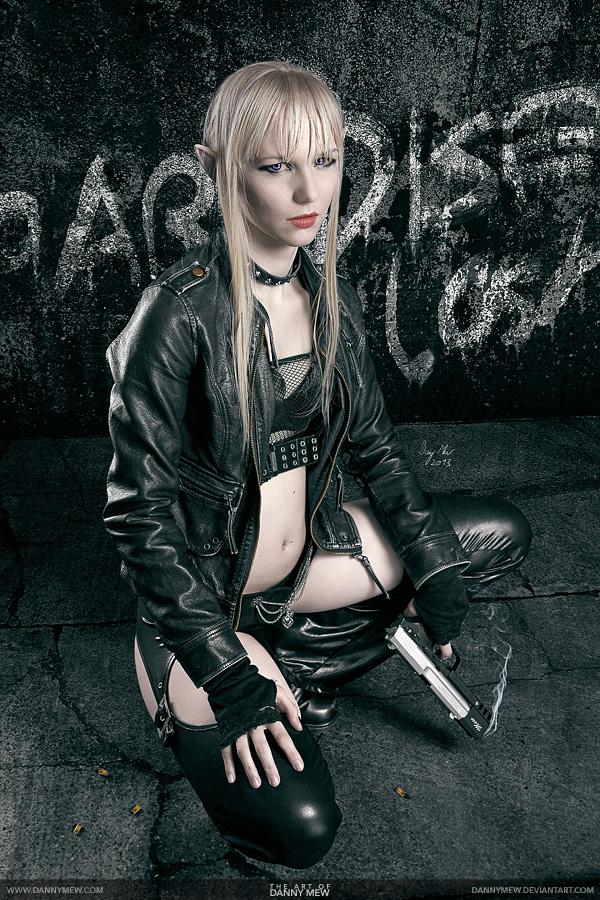 Shadowrun albino elf cosplay
