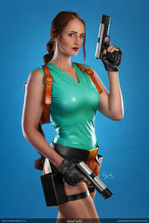 Lara Croft Promotional Model Cosplay
