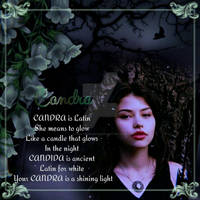 CANDRA  -  Girl's Name Poems by huntermarch