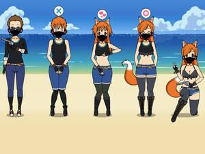 Field agent to Foxy Spy tg kisekae