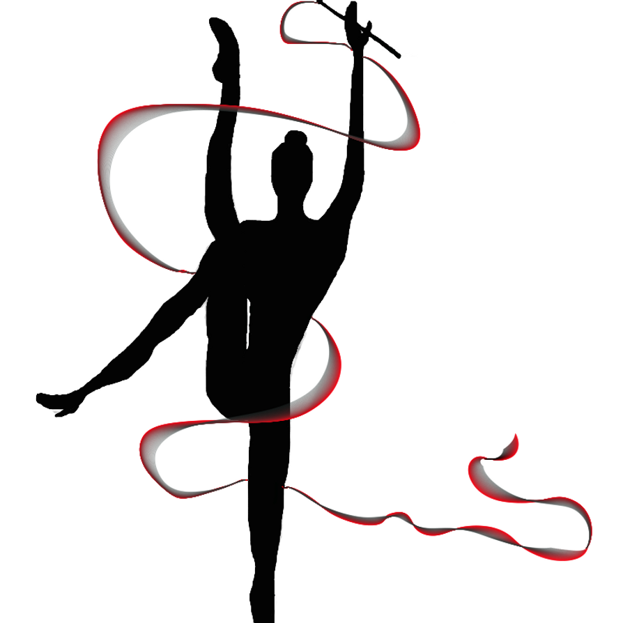 rhythmic gymnastics ribbon clip art