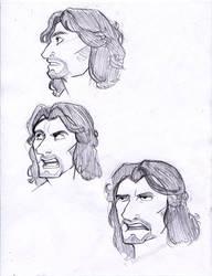 More expression sketches - Th'ero