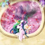 Princess Celestia to enjoy time