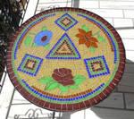 mosaic table by ritsasavvidou