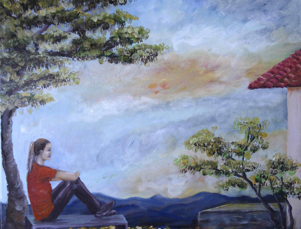 lonely girl by ritsasavvidou on DeviantArt