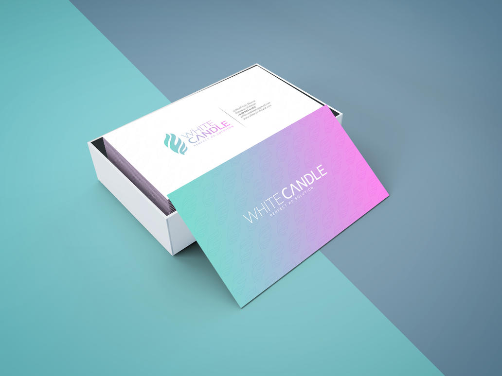 White candle business card design by nabeelibnhassan on deviantart white candle business card design by nabeelibnhassan colourmoves Choice Image