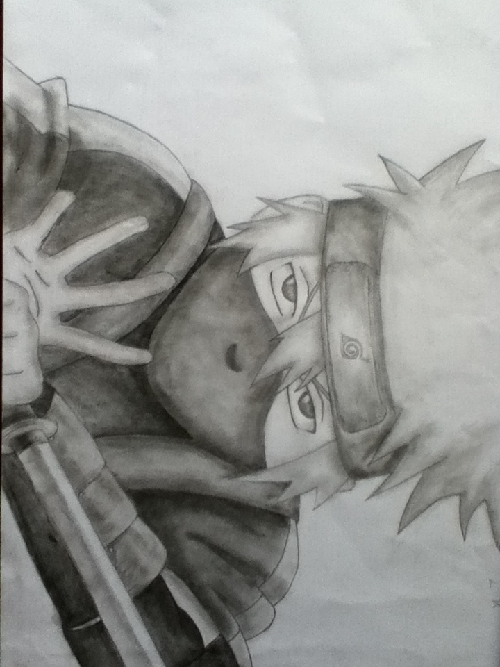 young kakashi hatake pencil drawing by rainbow shinobi
