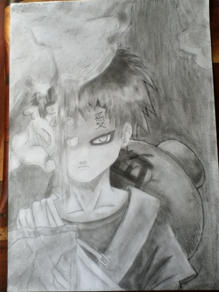 YOUNG Gaara of the Desert Pencil Drawing by RainbowShinobi on