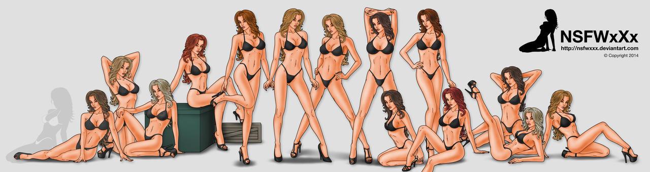 Black Bikinis