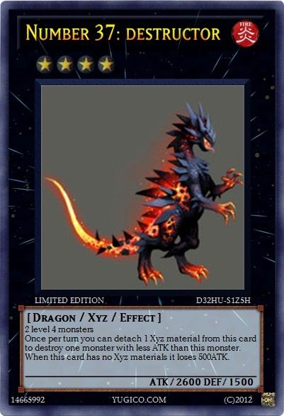 Yugioh custom- Number 37 by flamemaster37Yugioh Number 37