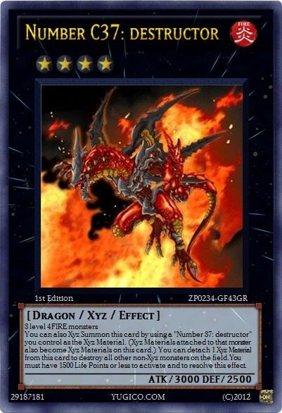 Yugioh custom- Number C37 by flamemaster37Yugioh Number 37