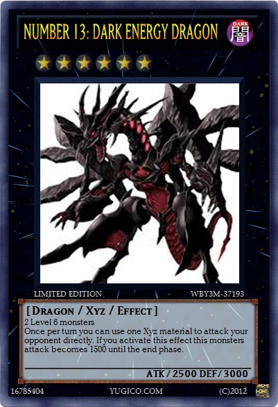 yugioh custom- Dark Dragon by flamemaster37Yugioh Number 37
