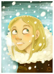 Elle and Snow. by StressedJenny