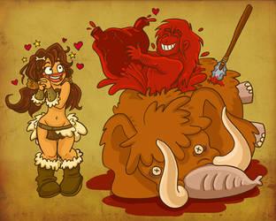 Cave man valentines. by StressedJenny