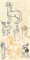 Centaur Doodles