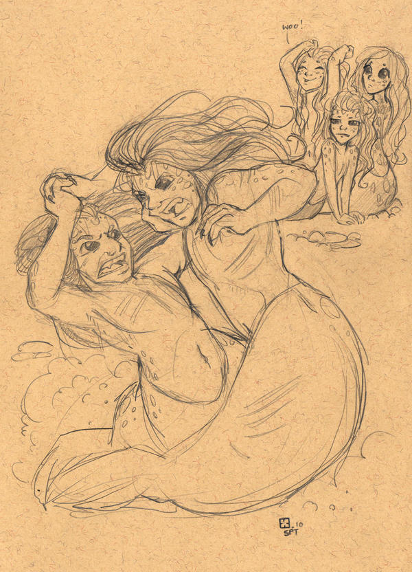 Selkie Sketches Bull Fight by StressedJenny