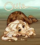Oula on beach