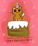 Kitten on a cake