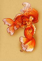Dinky Goldfish Girl by StressedJenny