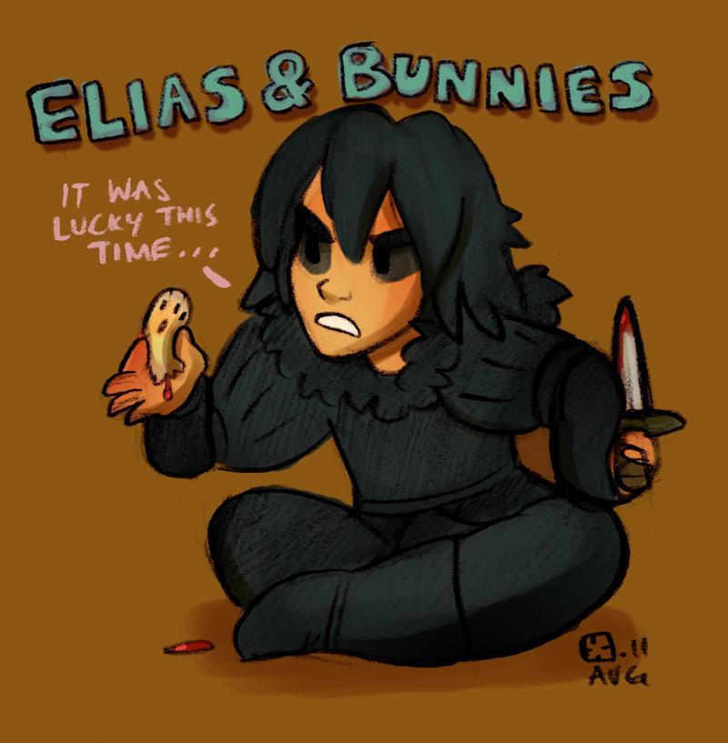 Elias and Bunnies by StressedJenny
