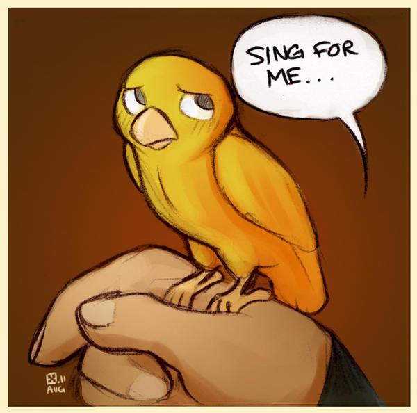Sing songbird by StressedJenny