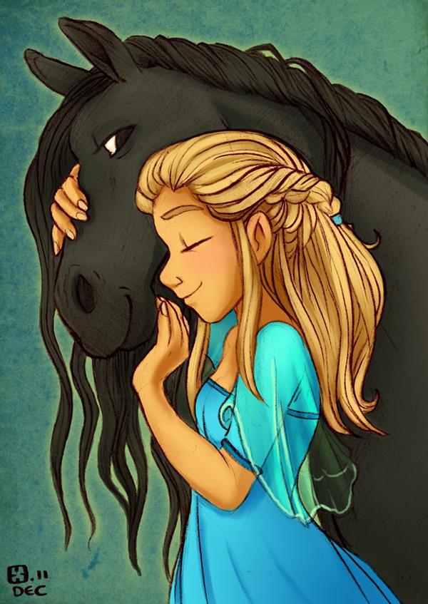 Horse nuzzlins by StressedJenny