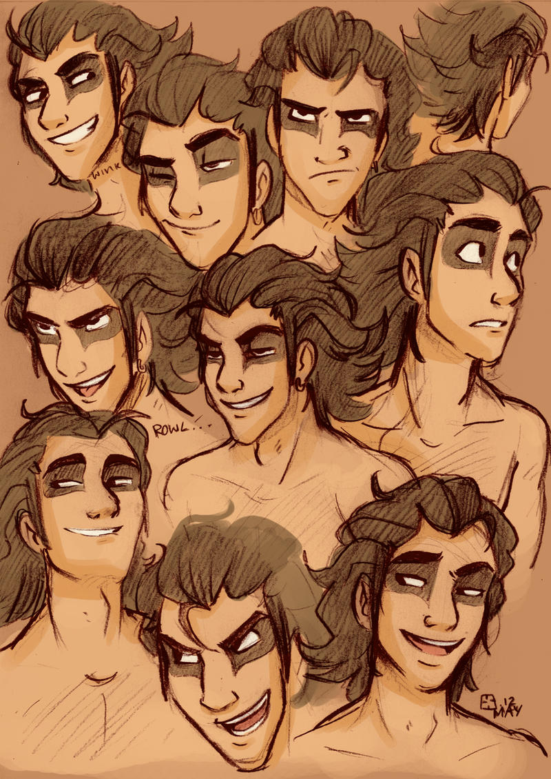 Mias expression sheet by StressedJenny