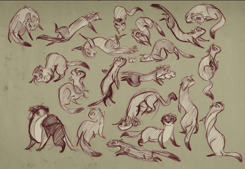 Slinky Stoat-Weasel by StressedJenny