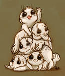 Selkie Pup Pile by StressedJenny