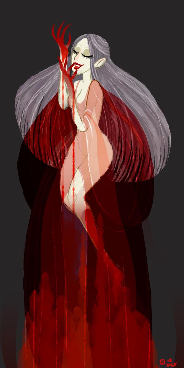 Vampire lady by StressedJenny