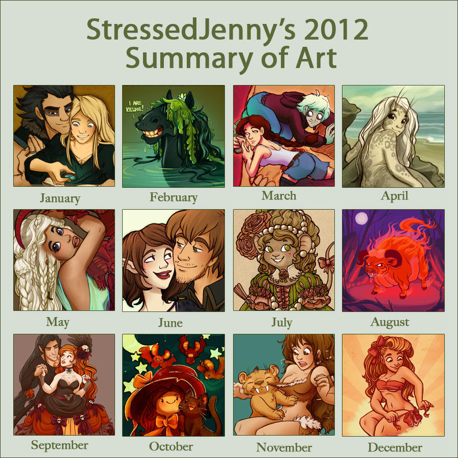 Summary of Art 2012 by StressedJenny