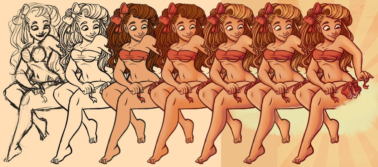 Bikini Bows Steps by StressedJenny