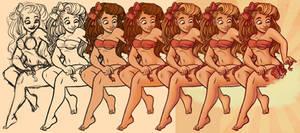Bikini Bows Steps