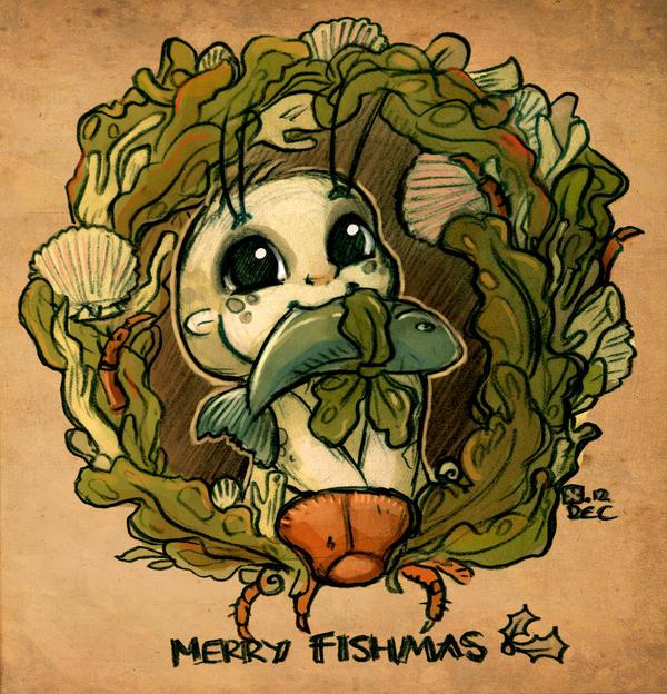 Merry Fishmas by StressedJenny