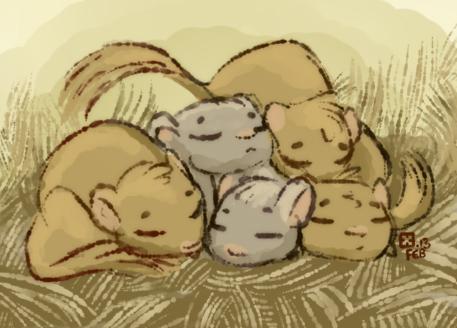 Snoozle Gerbils by StressedJenny