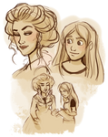 Iedra and Elle sketches