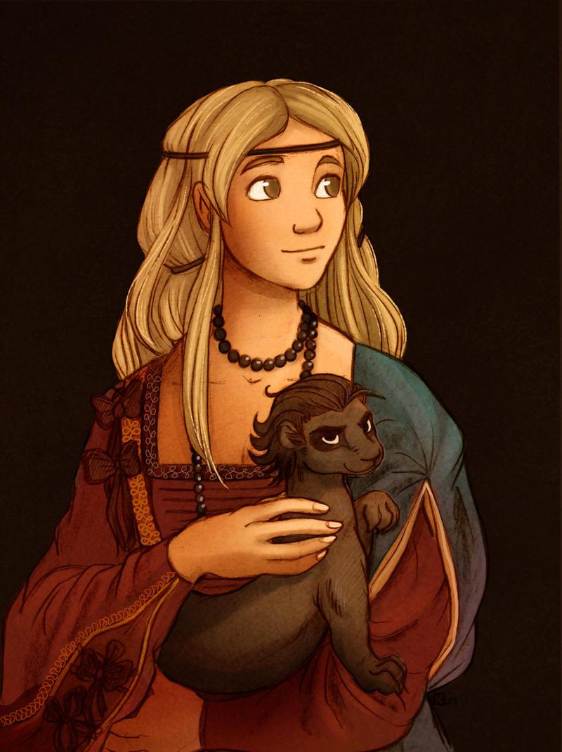 Lady with Vermin by StressedJenny