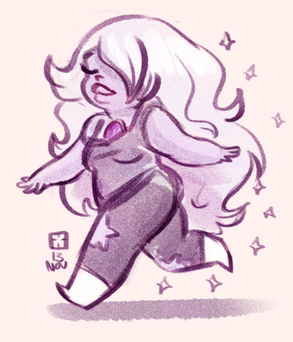 I love this show. and I really want to cosplay Amethyst someday.
