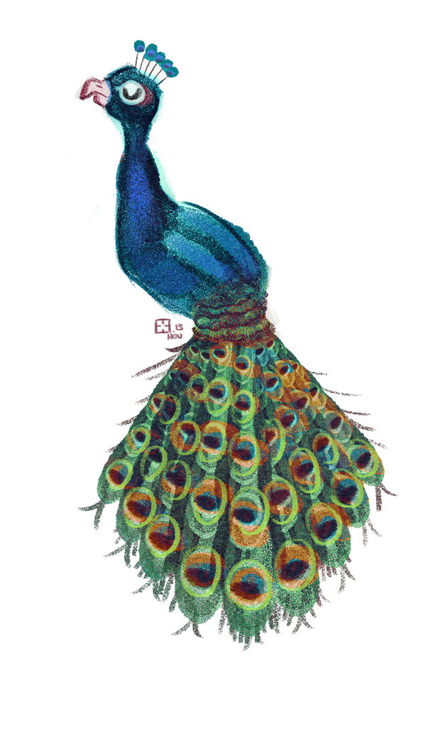 Peacock by StressedJenny