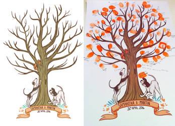 Wedding Tree by StressedJenny