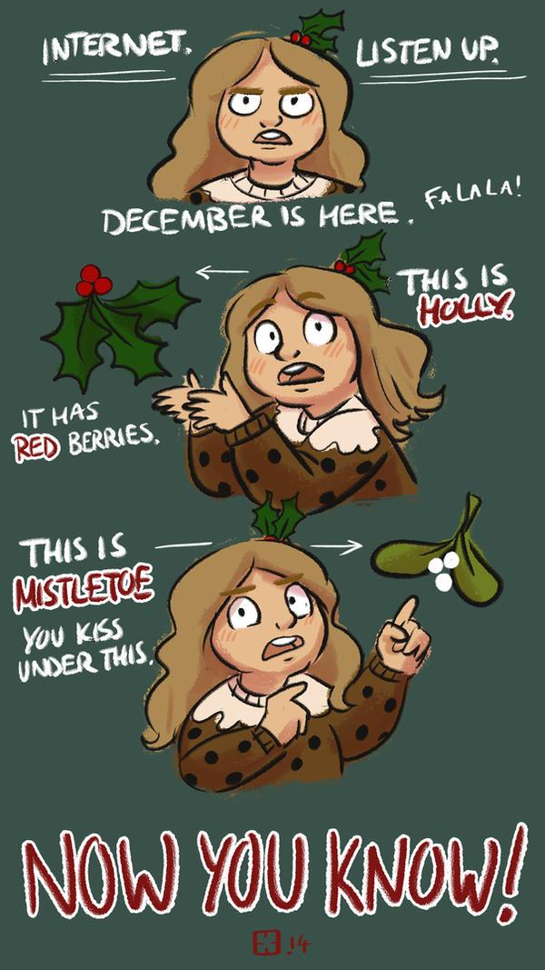 Holly and Mistletoe: The Basics. by StressedJenny