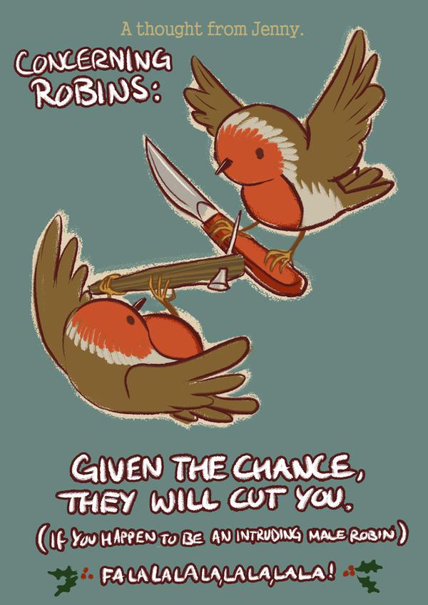Robins by StressedJenny
