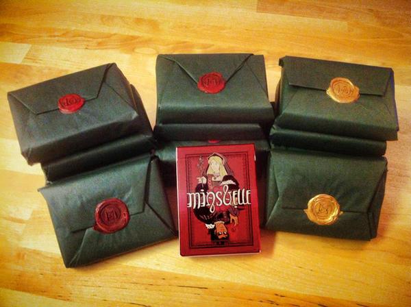Gift wrapped Card Decks. by StressedJenny