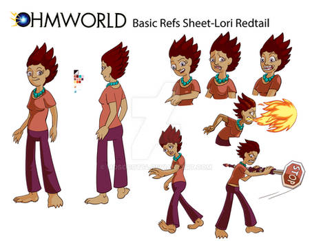 Ohmworld-Lori Redtail Refs Sheet