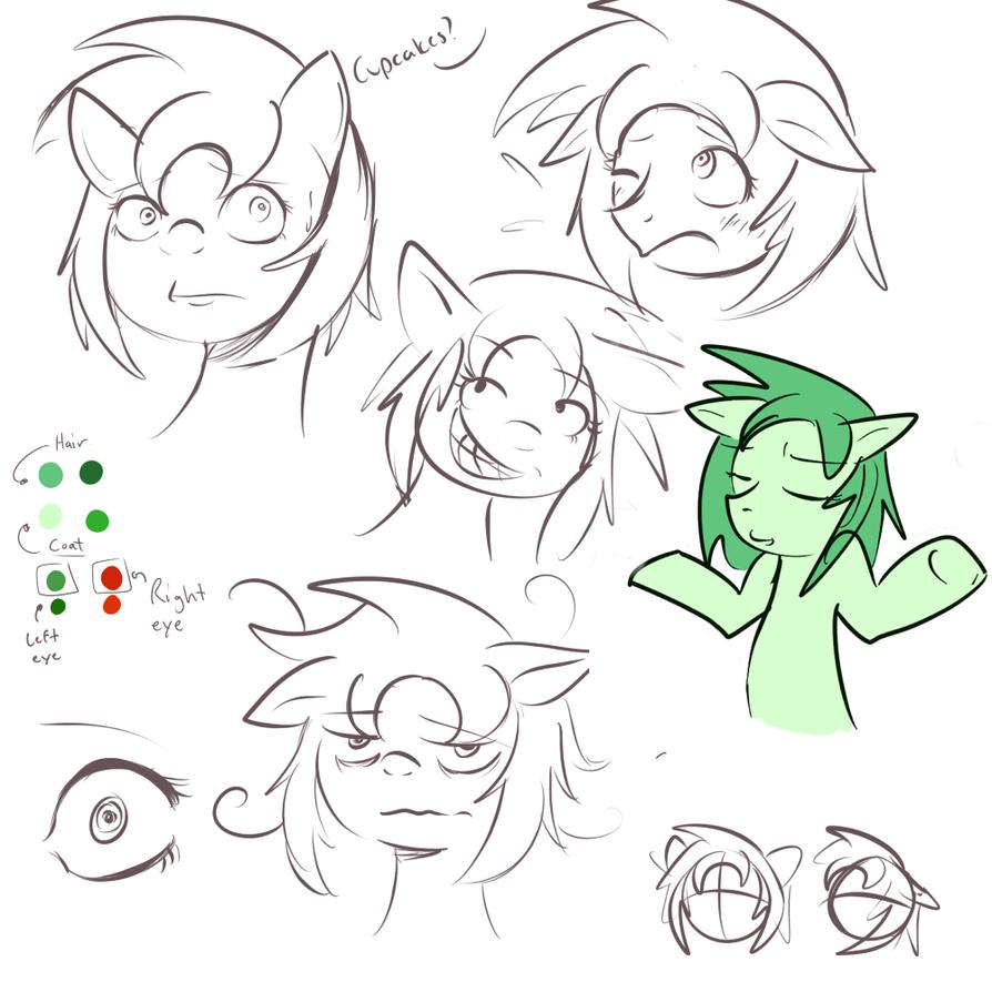(2014) Vanna's Ponysona Reference Sketches by Vannamelon